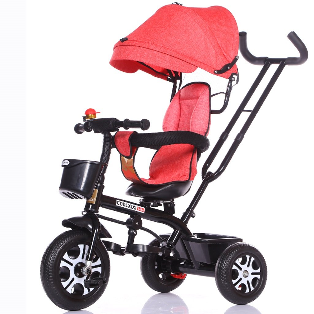子供の三輪車1-5歳のベビーカーのベビーカーベビーカーの子供たちの自転車、パープル/ホワイトフレーム、パープル、ピンク、ブルー、ブルー/ホワイトフレーム、グレー ( Color : Pink ) B07C88J246