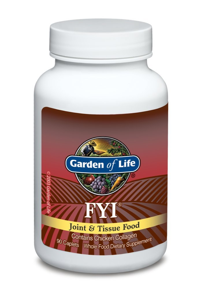 Garden of Life Joint and Tissue Support - FYI Joint Supplement with Chicken Collagen Type II, 90 Caplets