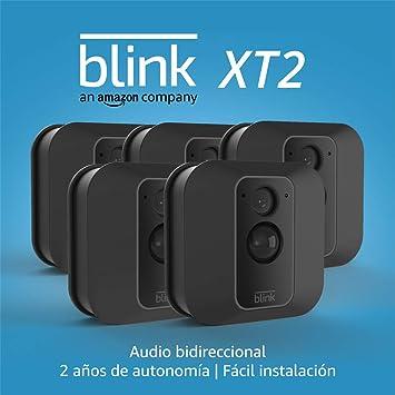 Nueva c/ámara de seguridad inteligente para exteriores e interiores con almacenamiento en el cloud incluido Blink XT2 audio bidireccional 1 c/ámara 2 a/ños de autonom/ía