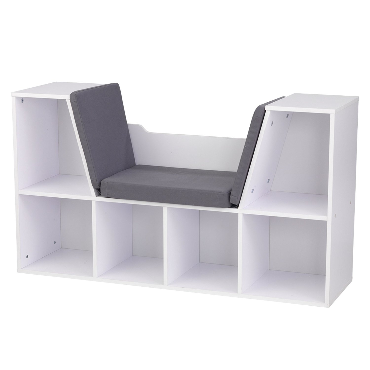 Amazon.com: Top Rated Best Seller Child Kids White Wood Comfy Reading  Learning Center Nook Furniture With Padded Cushion Seat- Generous Storage  Organizer ... - Amazon.com: Top Rated Best Seller Child Kids White Wood Comfy