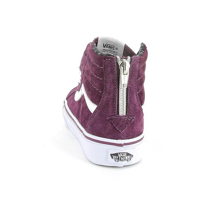 1af7b7bbe0 Vans 7574N Sneakers Bimbo Hi Zip Bordeaux Con Zip Shoes Kids  31 EU-13 UK    Amazon.fr  Chaussures et Sacs