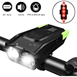 TECHVIDA Bicycle Lights, Bike headlamp 4000mAh USB Rechargeable 800 Lumens Super Bright LED Powerful Light Bike Front and Rear IP68 Waterproof Bicycle Flashlight