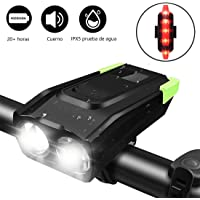 TECHVIDA Bicycle Lights, Bike headlamp 4000mAh USB Rechargeable 800 Lumens Super Bright LED Powerful Light Bike Front…