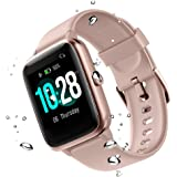 Fitness Tracker for Men Women Kids Heart Rate Monitor Waterproof Sports Fitness Watch with Call Message Alerts Music…