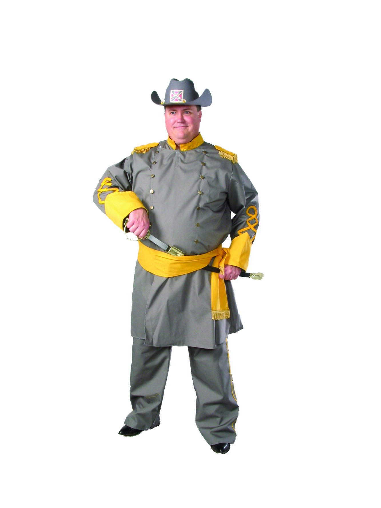 Alexanders Costumes Plus-Size Confederate Officer, Grey, Plus Size