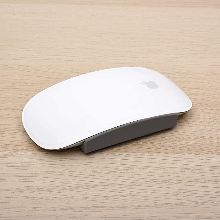 Fironst Magic Grips for Apple Magic Mouse 1 & 2, Silicone Cushion Grip for Improves Comfort, Widens Grip, Gives You Better Control ( 2 Pairs, Gray)