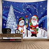 Startview New Fashion Christmas Xmas Tapestry Hippie Room Bedspread Wall Hanging Throw Blanket (I)