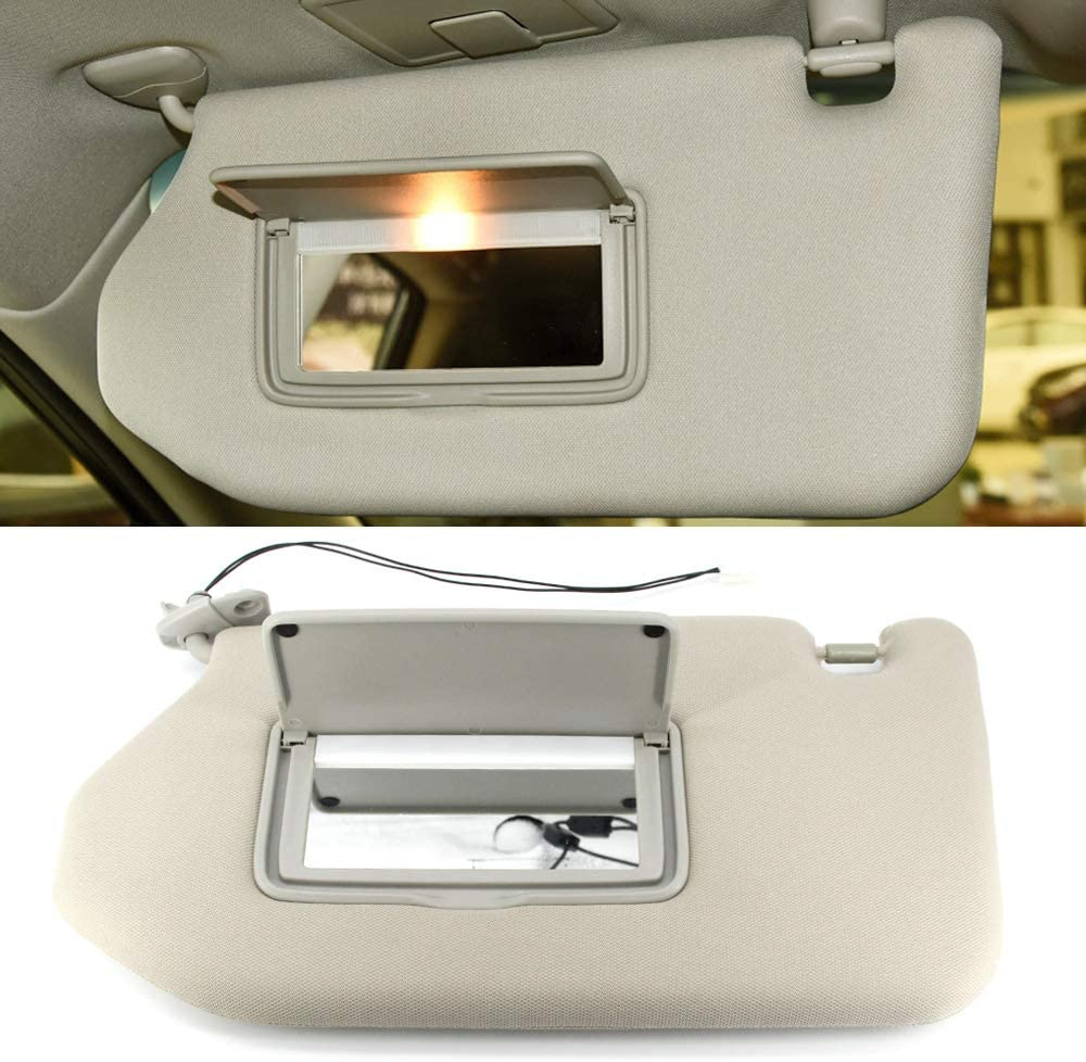 ustar Sun Visor with Lamp Front Left Driver Side Fit for 13-18 Nissan Pathfinder 14-17 Infiniti QX60 13 Infiniti JX35 with Sunroof Rep 96401-9PB0A