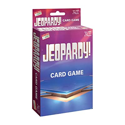 Jeopardy Card Game - Travel Sized Quiz Competition - Fast Paced Party Game: Toys & Games