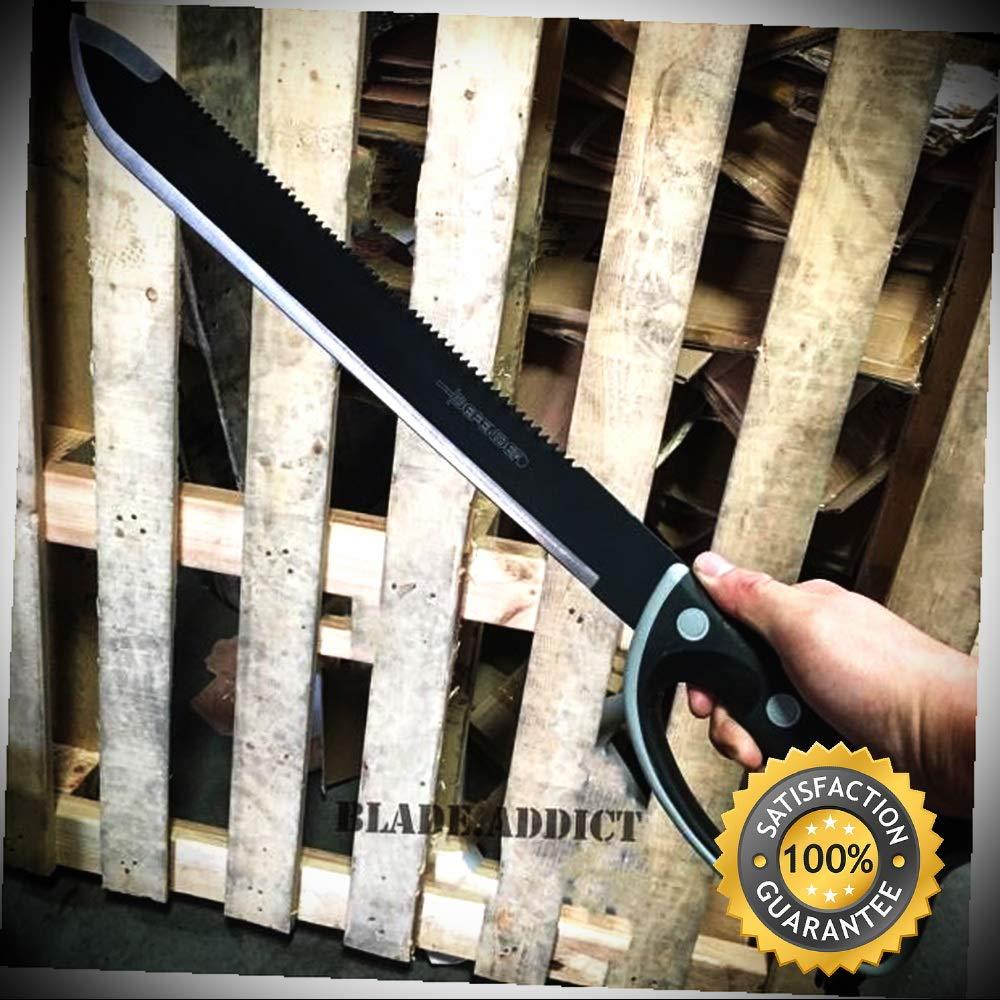 24 JUNGLE MACHETE HUNTING KNIFE MILITARY SURVIVAL SWORD ...