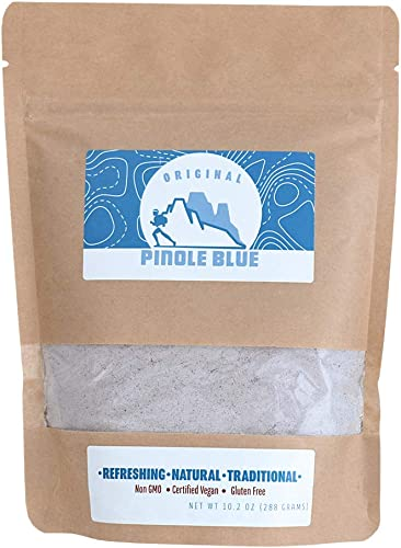 Pinole Blue – Original Blend, Organic Blue Corn Drink Mix, All-Natural Energy Booster, Endurance Fuel, Rich in Antioxidants, Complex Carbs, Sports Nutrition, Vegan-Friendly, Gluten-Free 10.2 Ounces