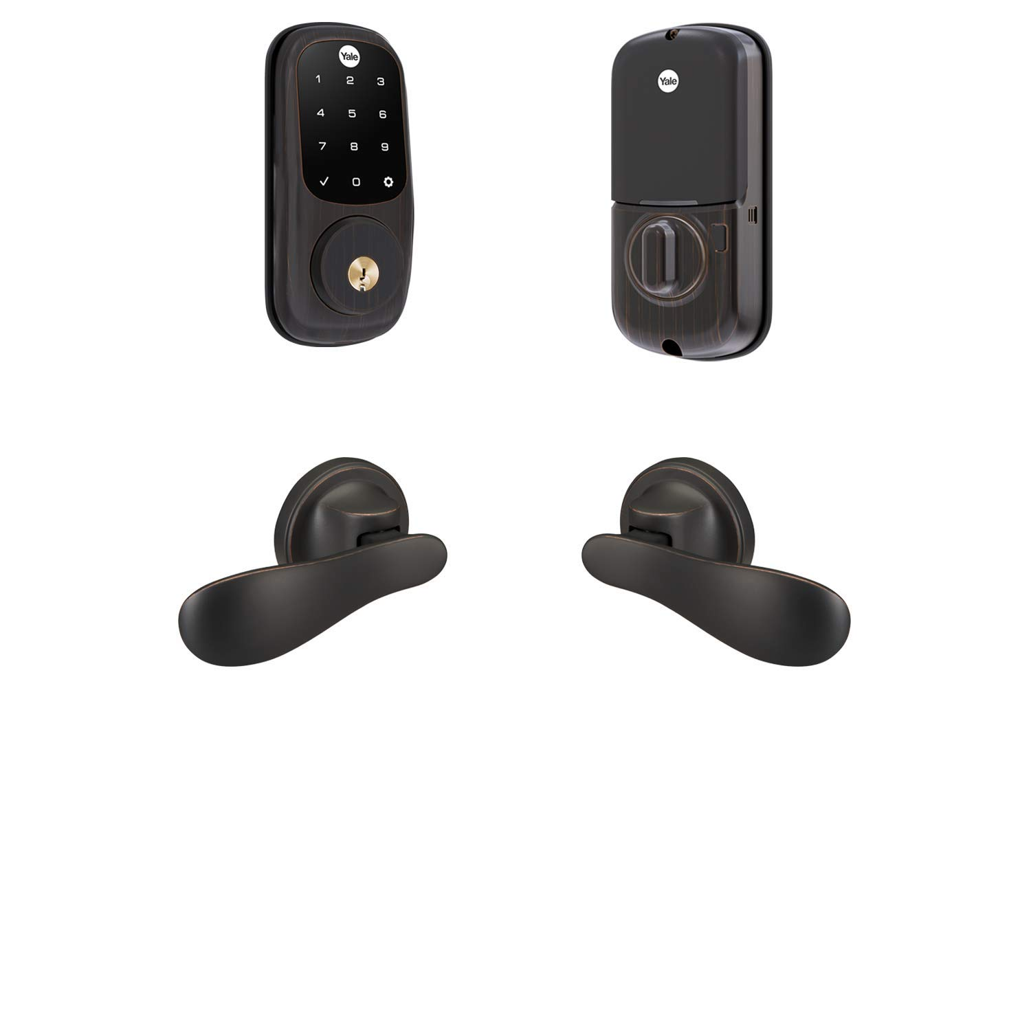 Yale Assure Lock SL, Connected by August with Kincaid BK Lever - Works with Amazon Alexa, Google Assistant and Home Kit