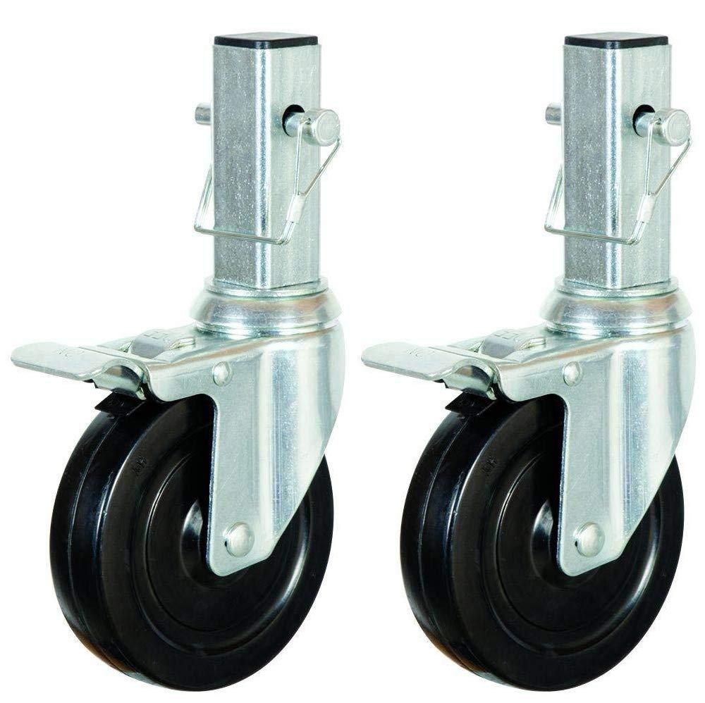 CBM Scaffold 2PCS Heavy-Duty 5'' for 6 ft. Baker Scaffold Wheel Hard Rubber Locking Caster
