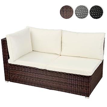 miadomodo divano poltrona da giardino esterno angolare ad angolo polyrattan 2 posti ca 130 x