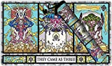 Stained Glass Titans Playmat and - Playmat Bag Kit by Inked Gaming / Perfect for TCG Card Gaming Magic The Gathering Pokemon Hearthstone and Yu-Gi-Oh Playmat Tube Plus Playmat