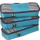 eBags Slim Classic Packing Cubes for Travel - Organizers - 3pc Set - (Aquamarine)