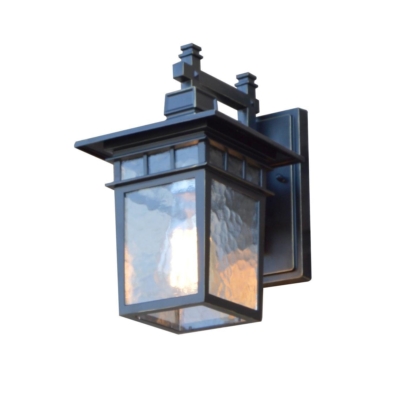 AA Warehousing EL727SBL Cullen 1 Exterior Light, Imperial Black