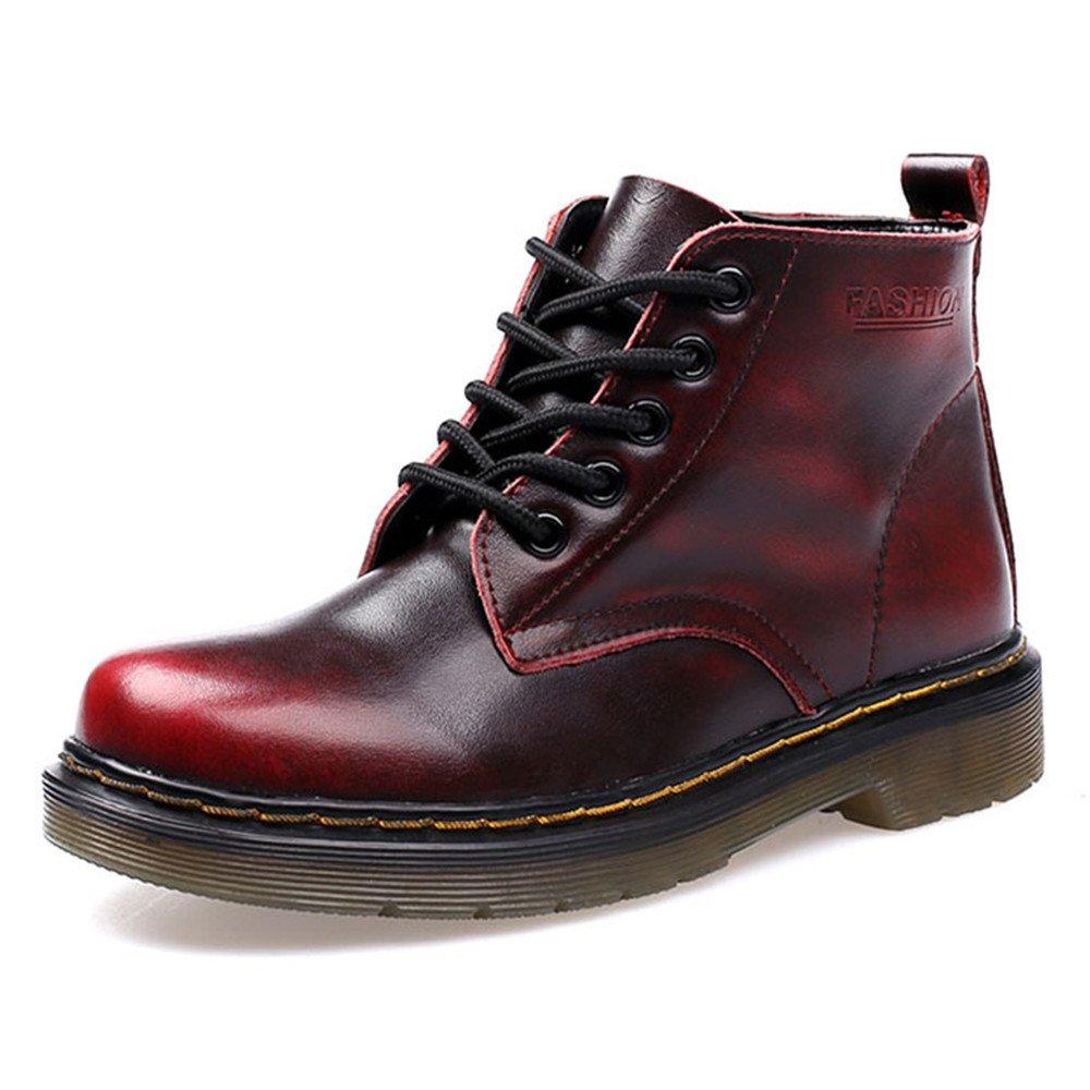 SITAILE Damen Herren Stiefeletten Leder Boots Kurzschaft Winterstiefel Winter Schuh Warme Gefütterte Outdoor Knöchel Stiefel LS0908