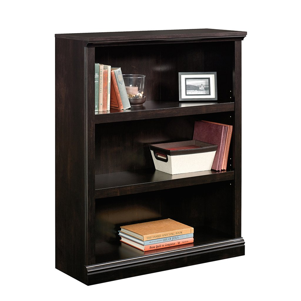Sauder 3 Shelf Bookcase, Estate Black 420175