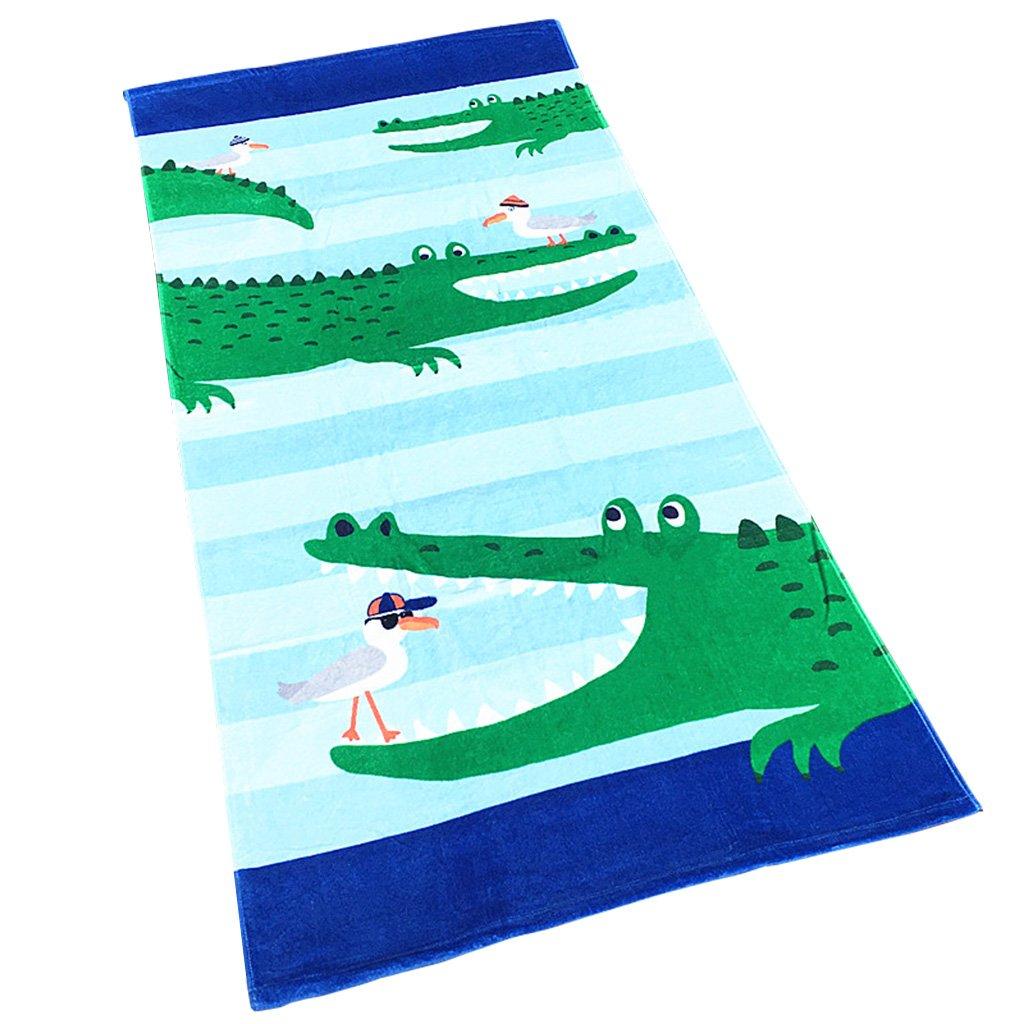 Boys Girls Beach Towel Kids Children 100% Cotton Bath Towel Bathrobe Blanket