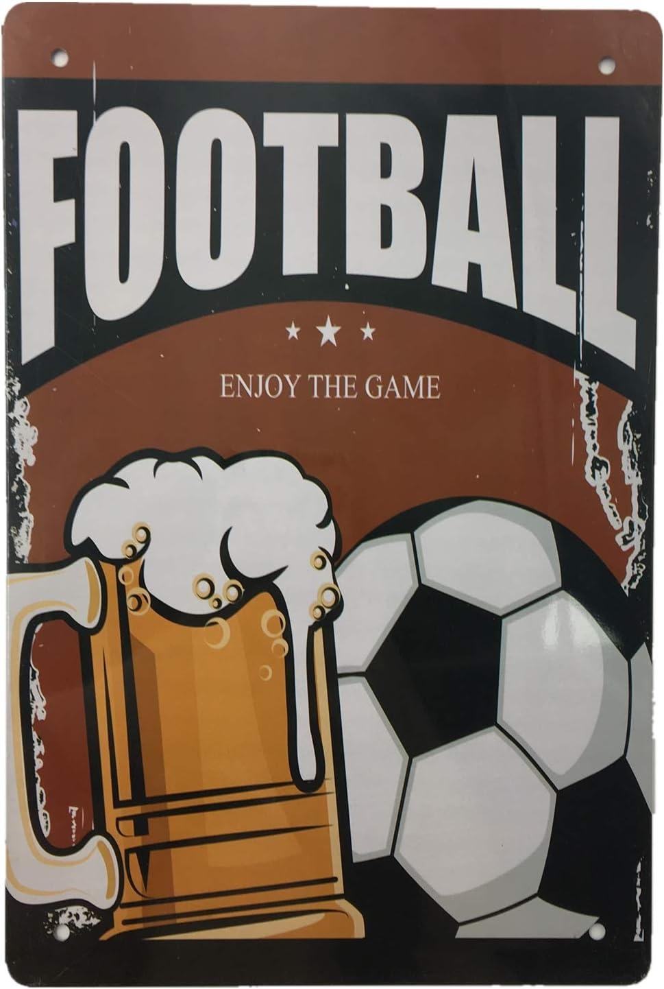 Retro vintage style metal tin sign gift Home Decor Pub Sports Bar Football