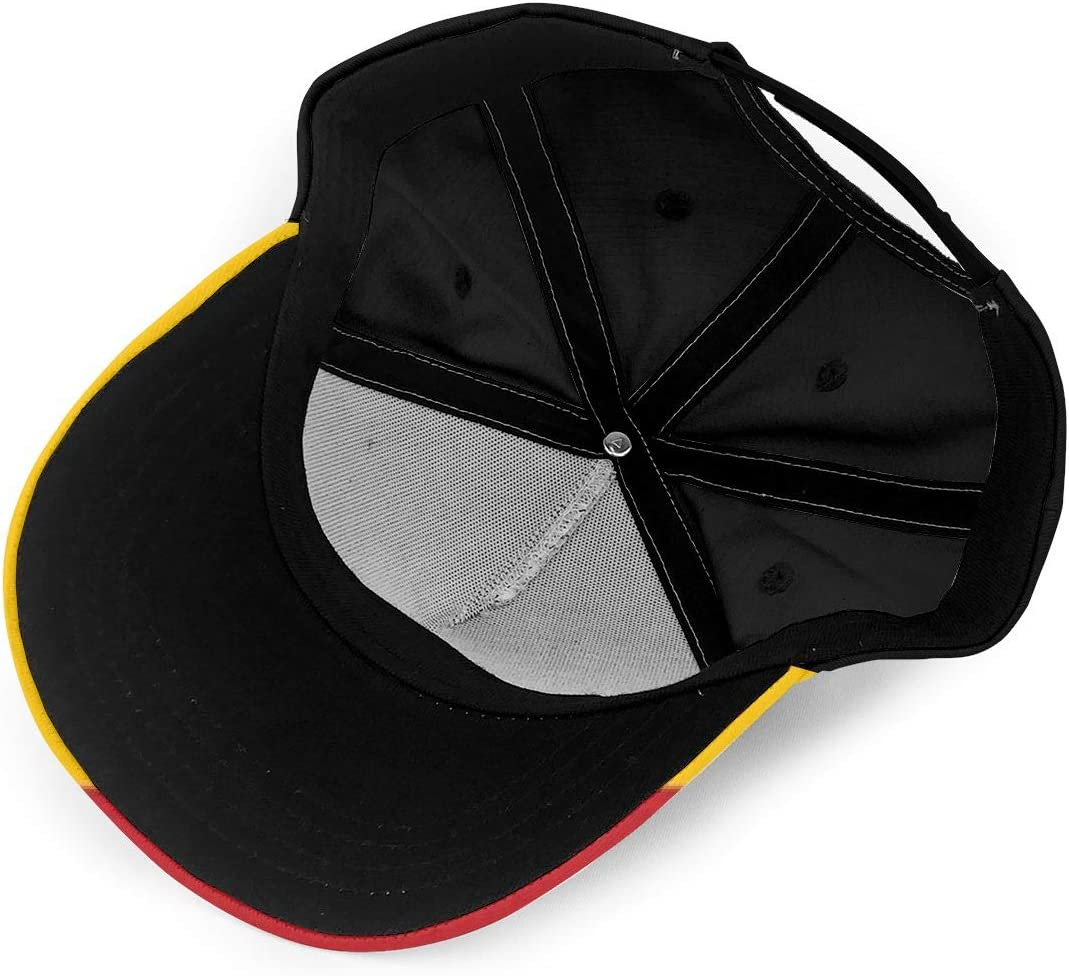 Spanish Flag Summer Baseball Caps for Men and Women with Adjustable Snapback Strap