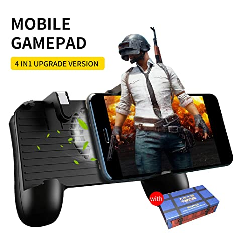 Mobile Game Controller Trigger Phone Cooling Pad Upgrade Version Gamepad For Android IOS FPS Games