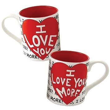 42306c32786 (Set/2) Love You Mug Set Love You More Coffee Cups Romantic Valentine Gift:  Amazon.co.uk: Kitchen & Home