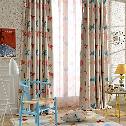 Melodieux Cartoon Blackout Curtains Children