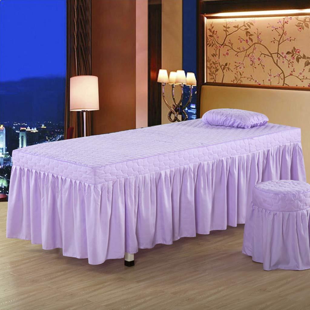 FITYLE Style Europ/éen De Jupe De Table De Massage De Feuille De Cantonni/ère De Matelas Cosm/étique De Microfibre De 190x70cm Rouge