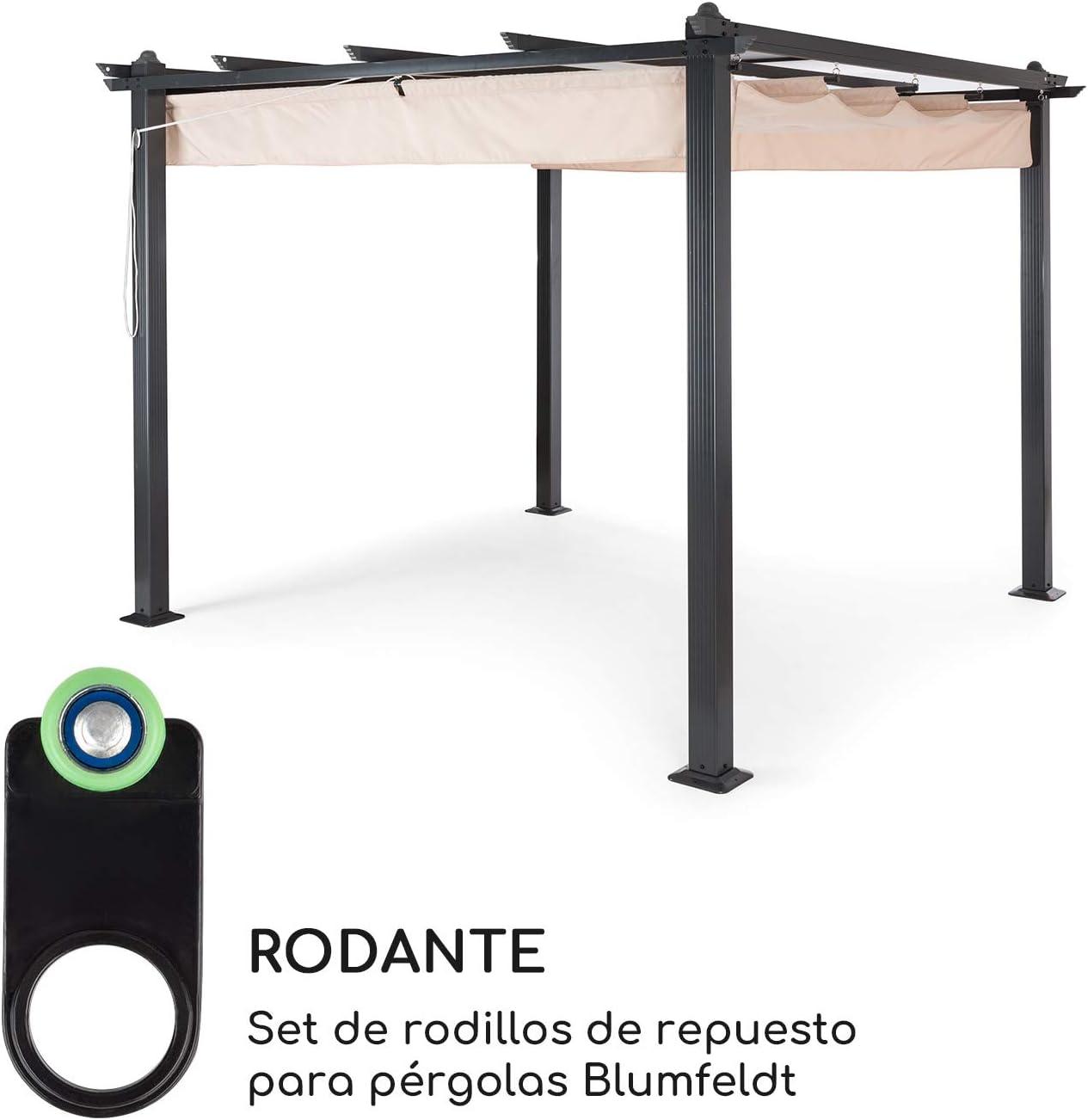 blumfeldt Set de ruedecillas Ganchos deslizantes para toldos 15 Unidades: Amazon.es: Jardín