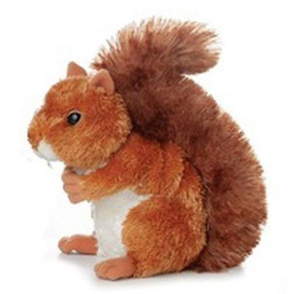 Nutsie Brown Squirrel 8-Inch Mini Flopsie Stuffed Animal Aurora AW30531