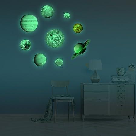 Frifer Adhesivos Decorativos Luminoso de cámara NEUFS Planetas Pegatinas Bricolaje Decorativo para habitación Niños