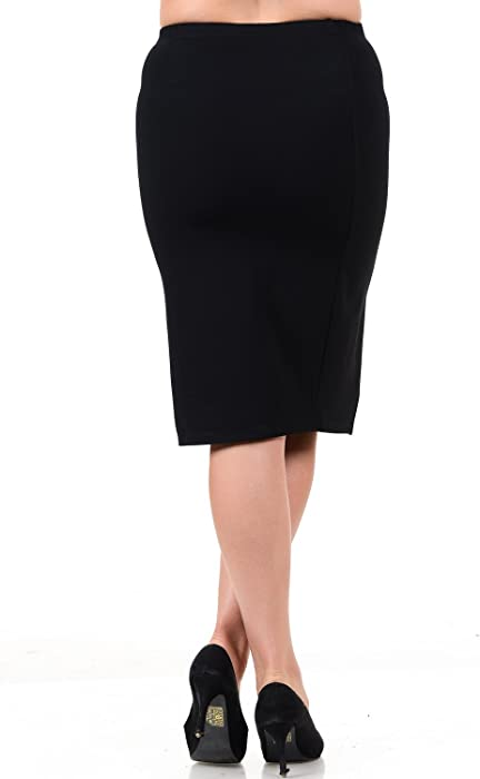 5698d1957b575 Womens Plus Size Black Ponte Skirt Stretch HIGH Waisted Ponti Made in USA  Skirts. Back. Double-tap to zoom
