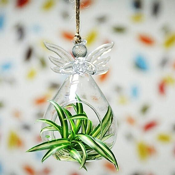 Glass Flower Vase Hydroponic Terrarium Bottle Candlestick Decoration Angel
