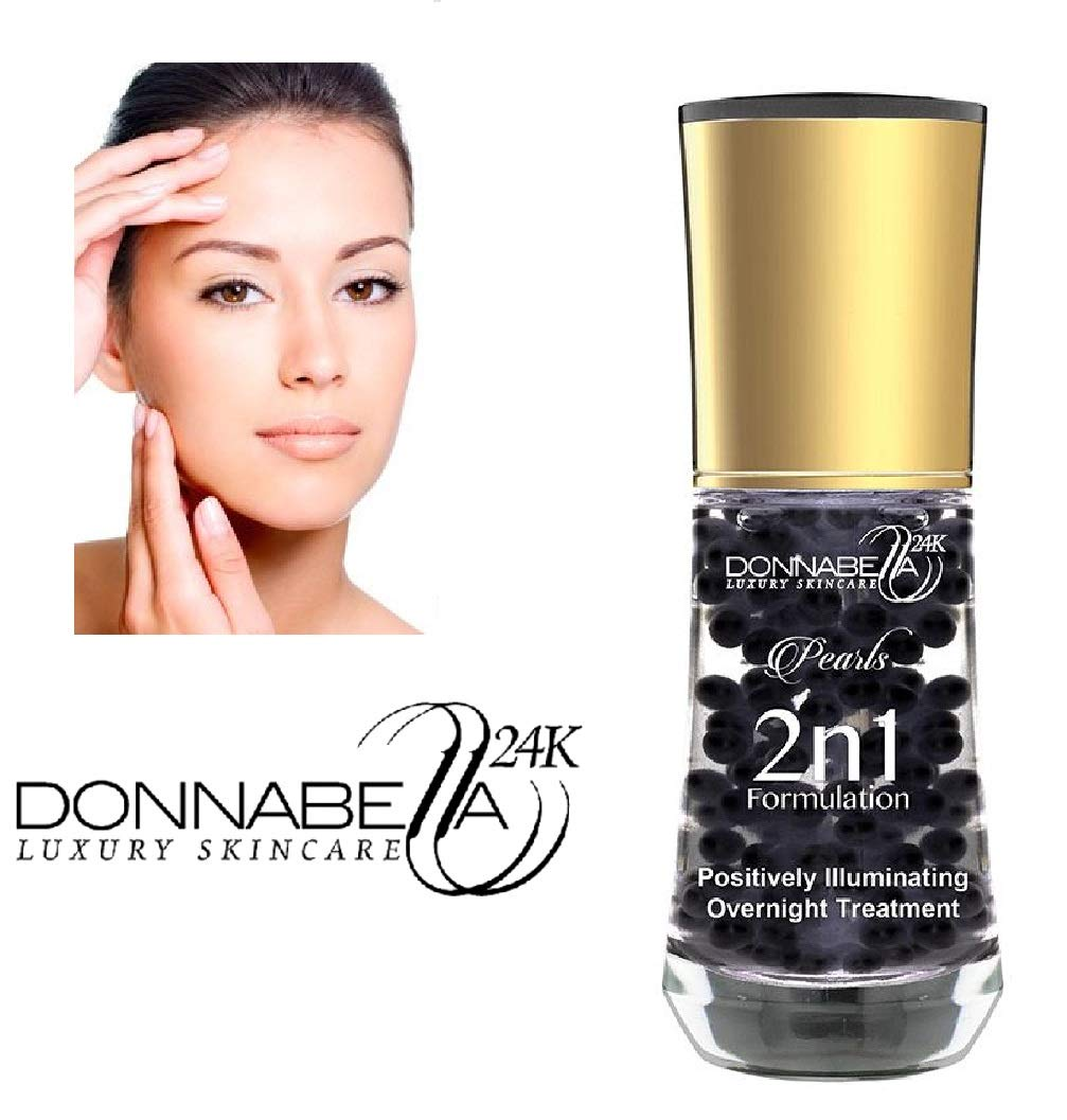 Donna Bella 24K Pro Gold edition Luxury Skincare Pearls 2 n 1 Formulation 40ML-1.35FL.OZ Positively illuminating overnight treatment