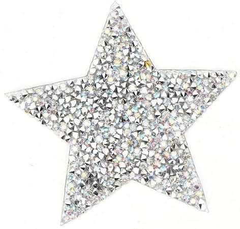 10 piezas de pegatinas de diamantes de imitación con patrón de estrella de cinco puntas para Ropa Moda Bolso Parches Decoración Accesorios: Amazon.es: Hogar