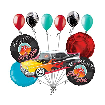 Amazon Com 11pc Muscle Rock N Roll Vehicle Happy Birthday Balloon