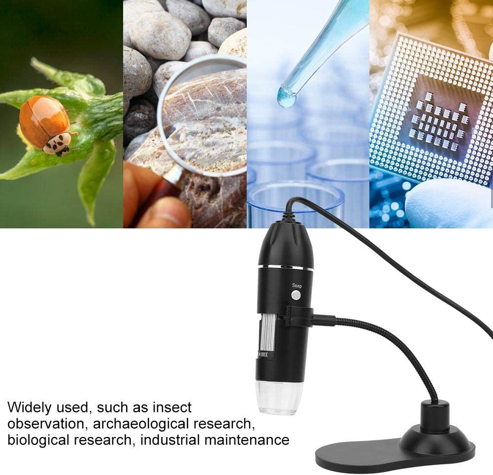 LED USB Digital Microscope Electronic Microscope with Bracket 50X-1000X