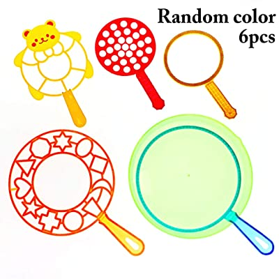 JUSTDOLIFE 6PCS Kids Bubble Wand Big Bubble Making Toy Bubble Maker Bubble Stick: Toys & Games