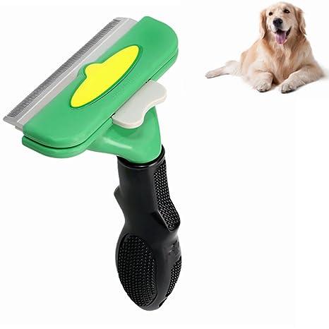 Enchuang Cepillo para Mascota Peine Perros Gatos Peine de Limpieza Masaje Mascotas con Pelo Corto Medio