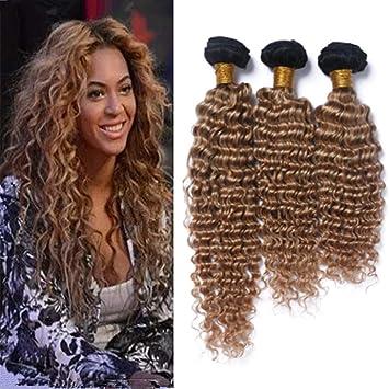 Amazon Com Zara Hair Honey Blonde Ombre Deep Wave Hair