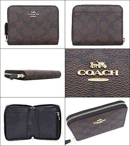 55ddc61439bf Amazon | [コーチ] COACH 財布 (二つ折り財布) F30308 ブラウン×ブラック IMAA8 シグネチャー 二つ折り財布 メンズ  レディース [アウトレット品] [ブランド] [並行輸入 ...