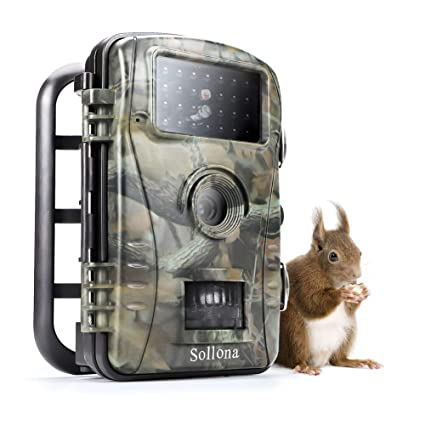 20d265cbea46c Sollona Wildlife Trail Camera Trap 16MP-12MP 1080P 940nm IR LEDs No Glow No  Flash Great Night Vision Motion Senor Activated IP66 Waterproof for ...