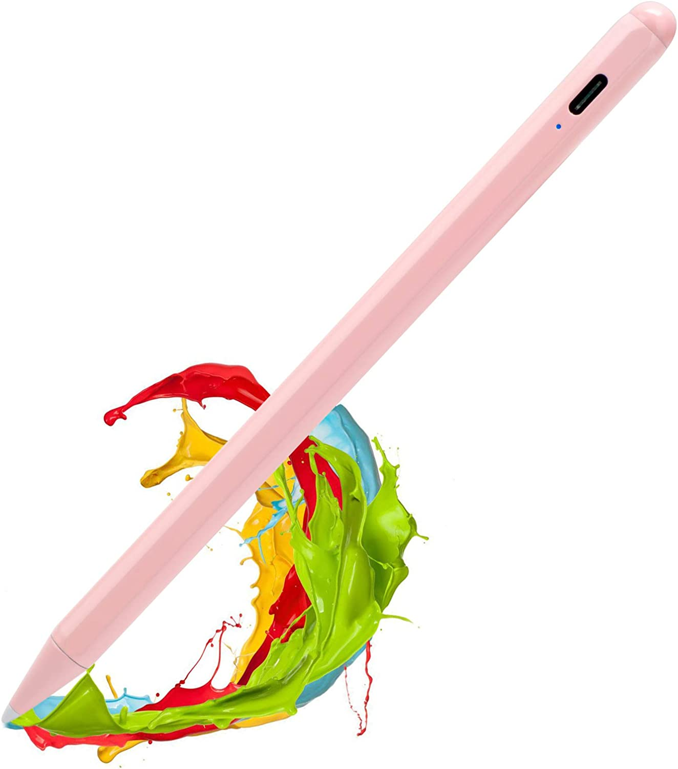 2020 iPad Air 4th Generation 10.9 Inch Stylus Pencil 2nd Generation,,Palm Rejection and Magnetic with 1.2 mm Replaceable POM Tip Active Stylus Pen for Apple iPad Air 4th Gen Pencil,Pink
