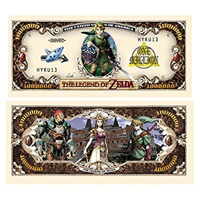 American Art Classics Legend of Zelda Million Dollar Bill - Pack of 25 - Best Gift for Zelda Fans: Toys & Games