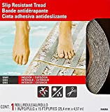 3M Safety-Walk Indoor/Outdoor Tread, Gray, 1-Inch by 180-Inch Roll, 7646NA