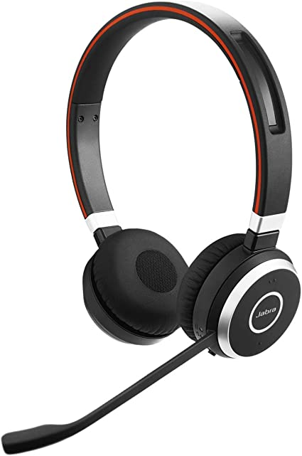 Amazon Com Jabra Evolve 65 Ms Wireless Headset Stereo Includes Link 370 Usb Adapter Bluetooth Headset With Industry Leading Wireless Performance Advanced Noise Cancelling Microphone All Day Battery Computers Accessories