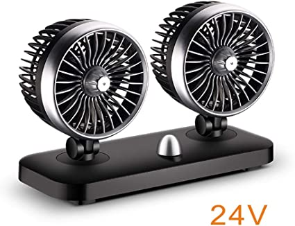 Haodene 12/24V Ventilador De Coche Eléctrico - 180 Grados Rotativo ...