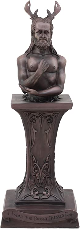 HORNED GOD STATUE   13-1//2 INCHES     Choice of Color